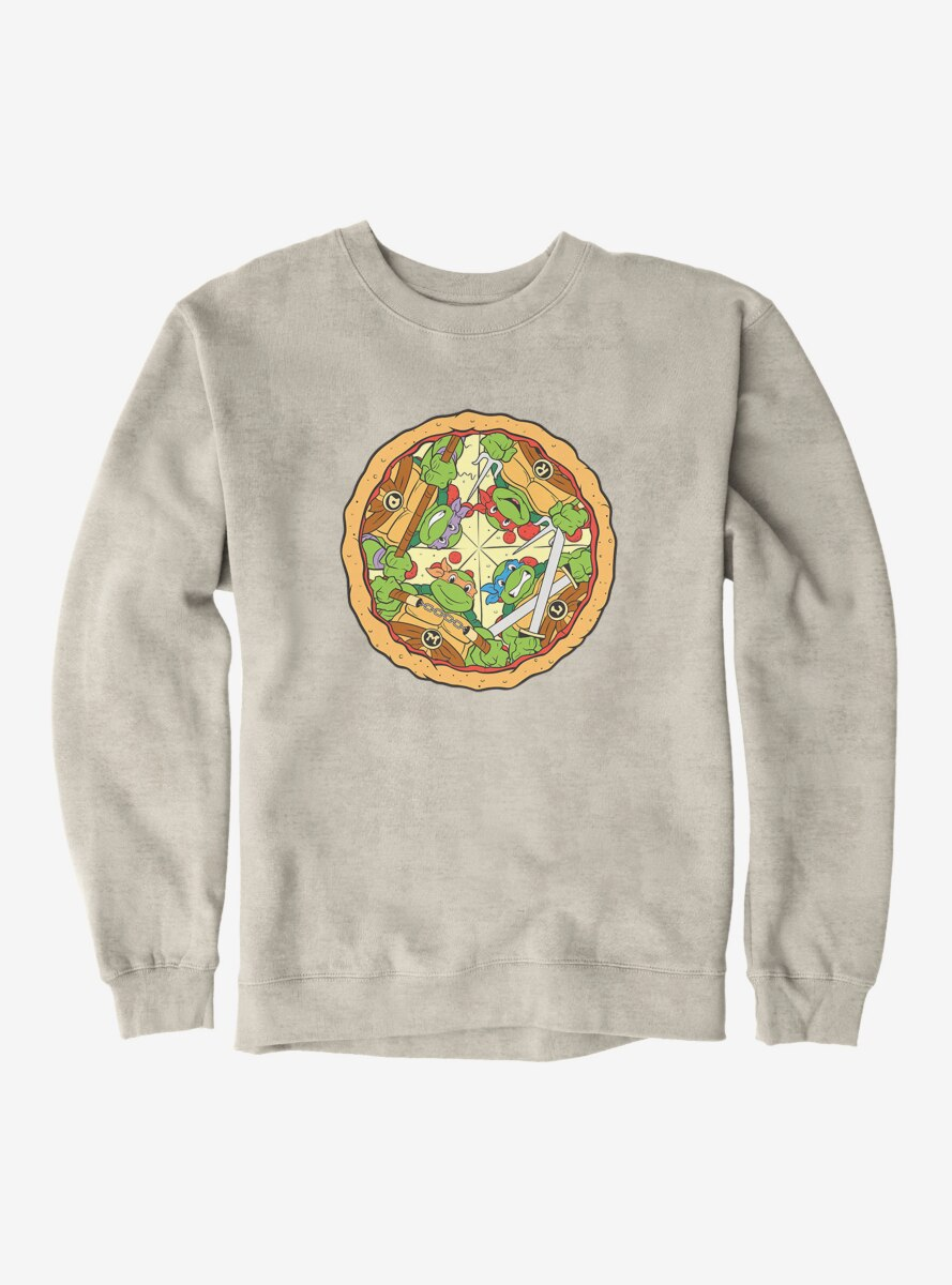 Teenage Mutant Ninja Turtles Group On Pizza Slices Sweatshirt