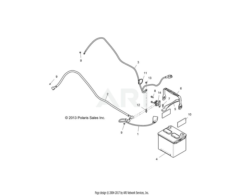 Polaris OEM 4014237 CABLE, BATTERY TO SOLENOID