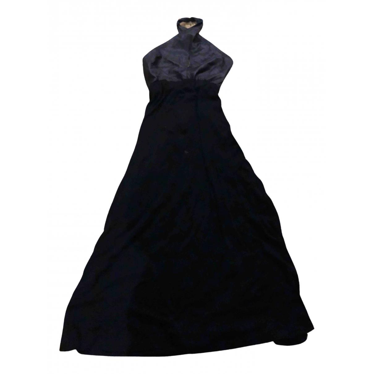 Maxi vestido de Cuero Dkny