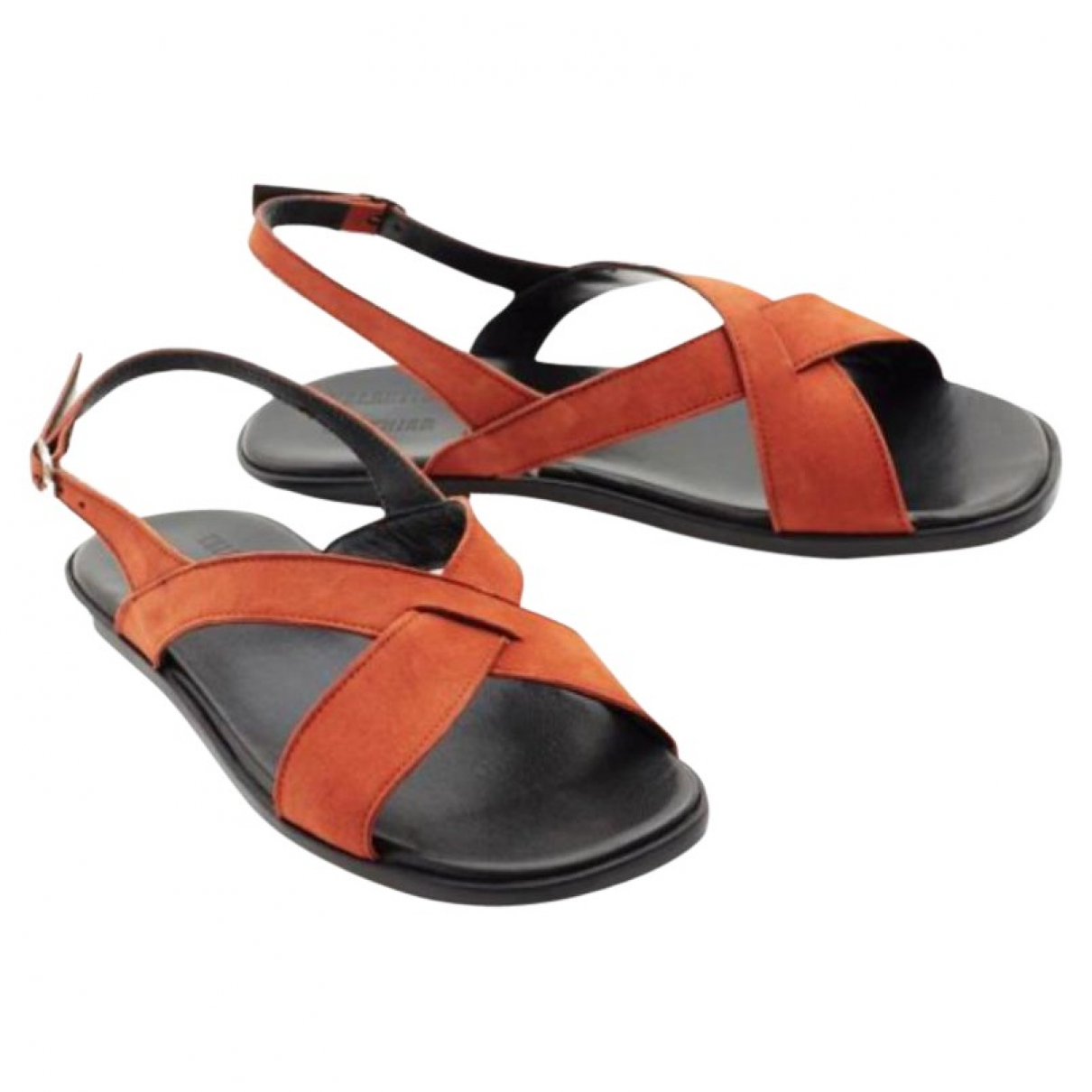 Valentine Gauthier \N Clogs in  Orange Veloursleder