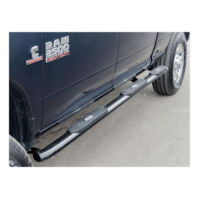 Aries Offroad 4-inch Wheel to Wheel Oval Side Bars (Gloss Black) - 365031