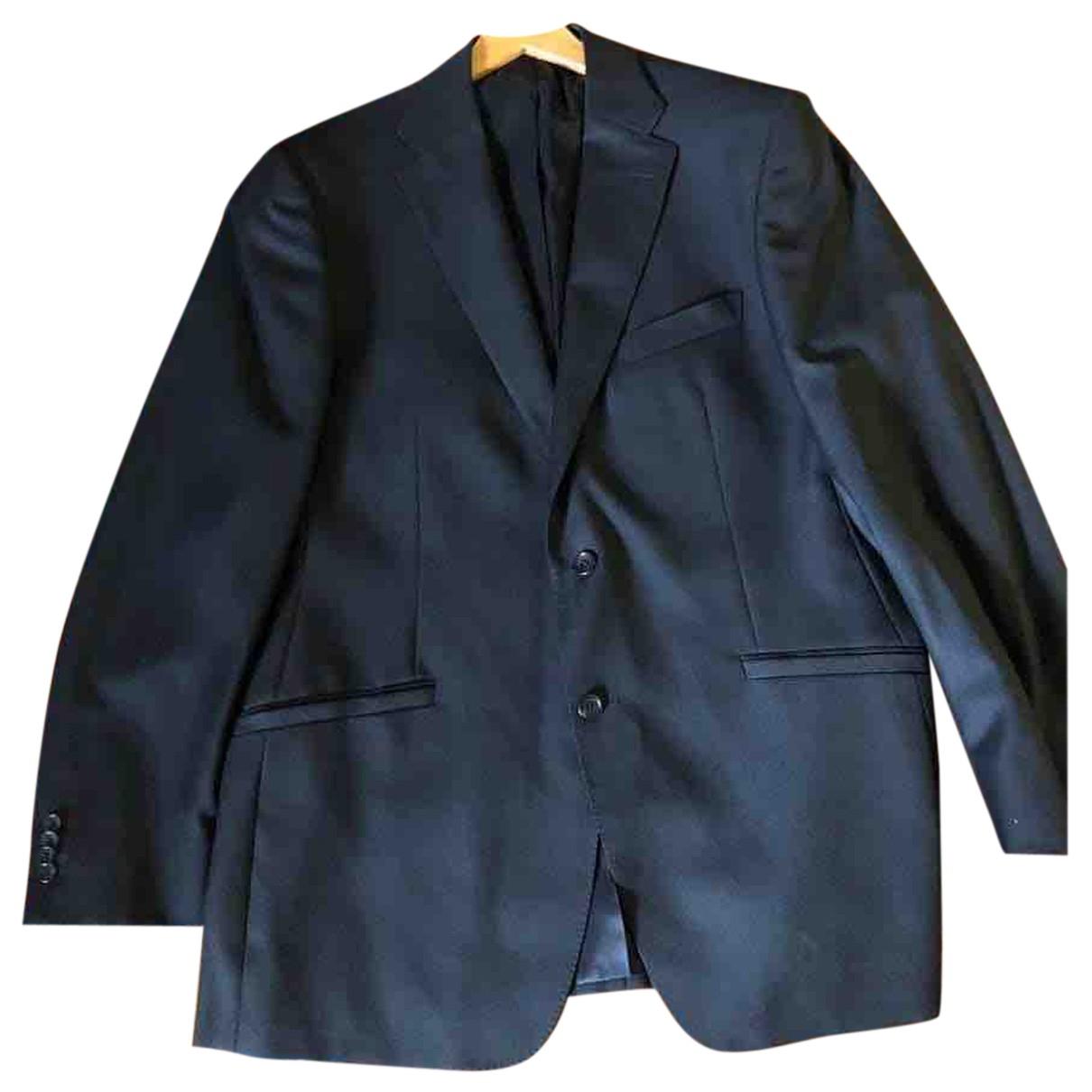 Versace - Costumes   pour homme en laine - noir