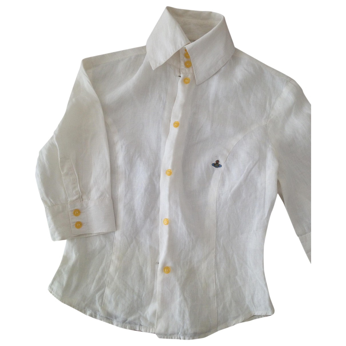 Vivienne Westwood \N White Linen  top for Women 6 UK