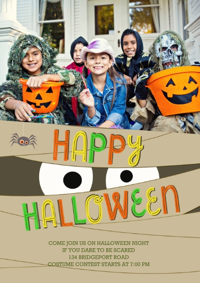 Halloween Photo Cards 5x7 Cards, Standard Cardstock 85lb, Card & Stationery -Spooky Halloween