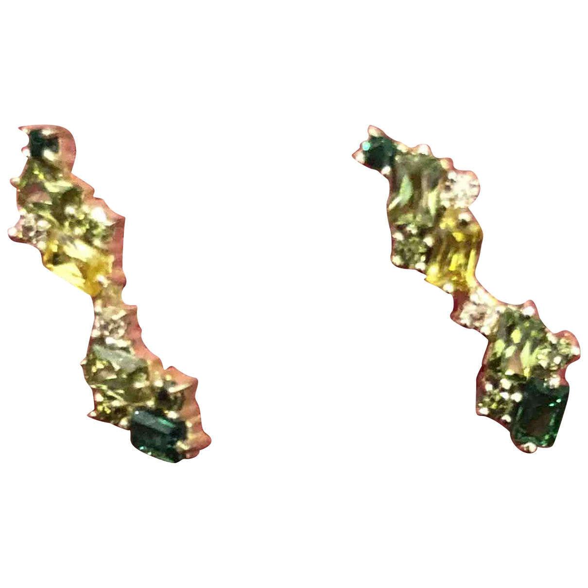 Non Signé / Unsigned \N Green Gold plated Earrings for Women \N