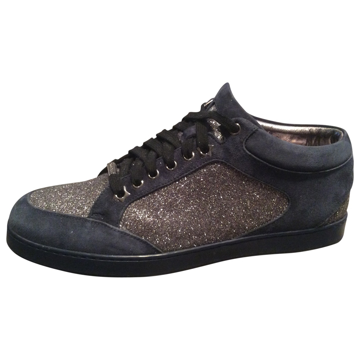 Jimmy Choo \N Blue Glitter Trainers for Women 40 EU