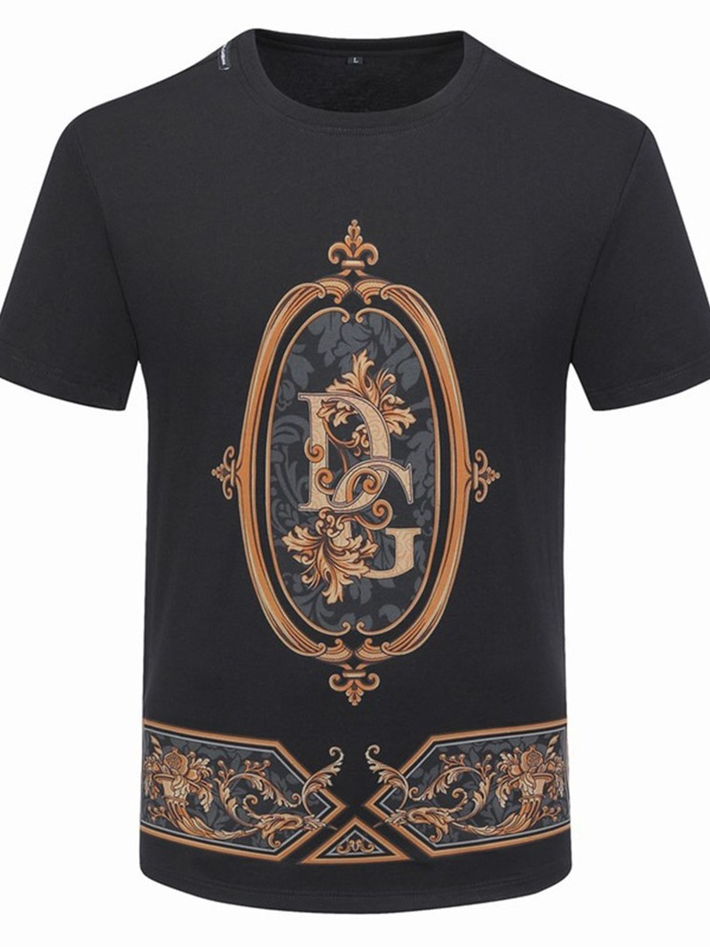 Ericdress Men's Print Round Neck Pullover Slim T-shirt