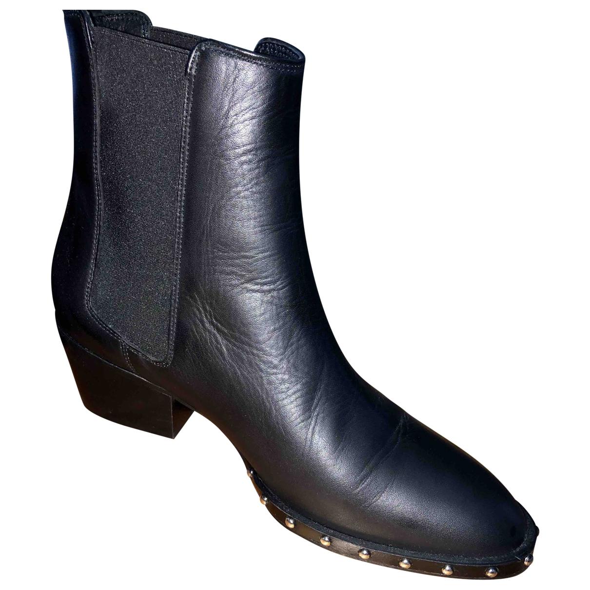 All Saints \N Black Leather Boots for Women 38 EU