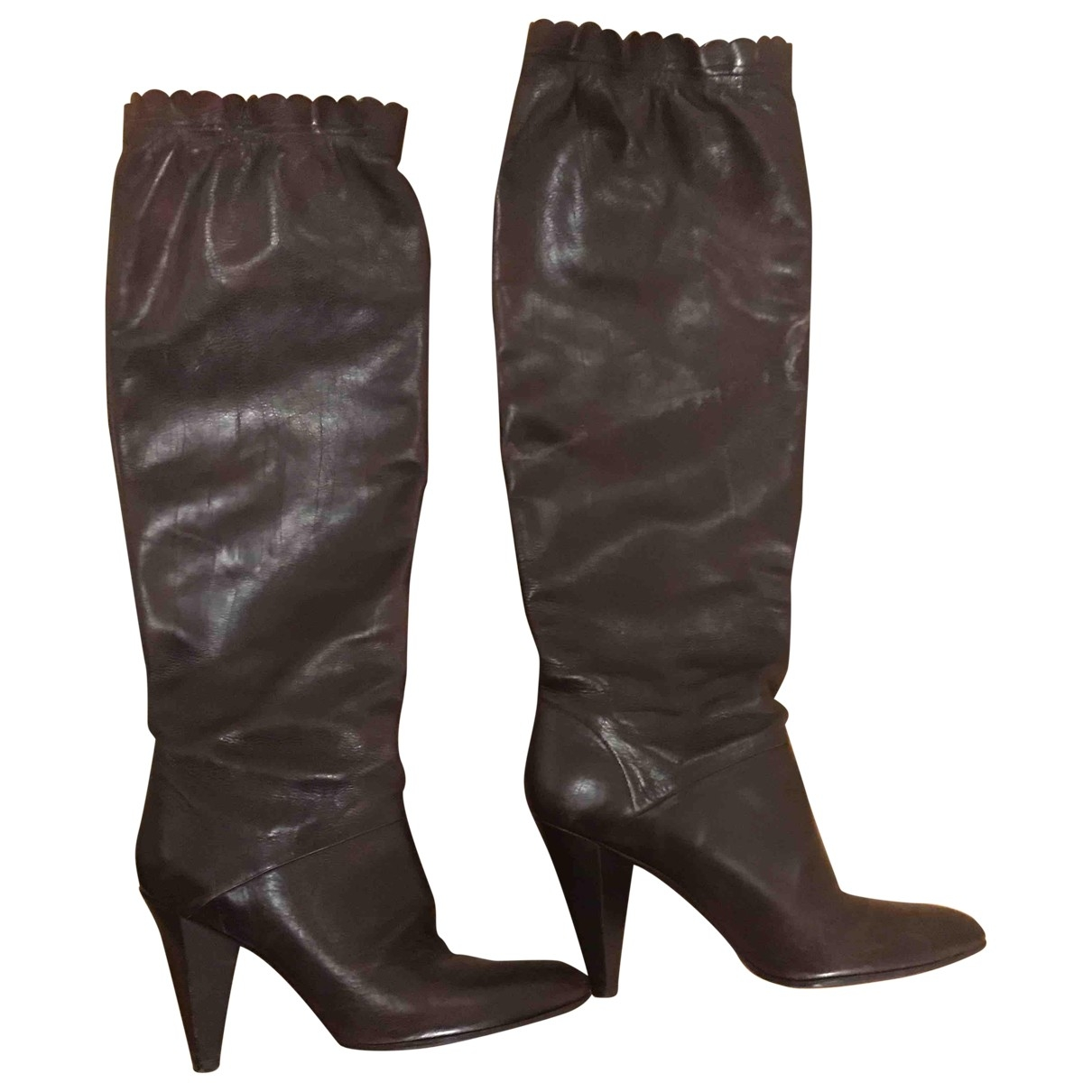 Marc Jacobs - Bottes   pour femme en cuir - marron