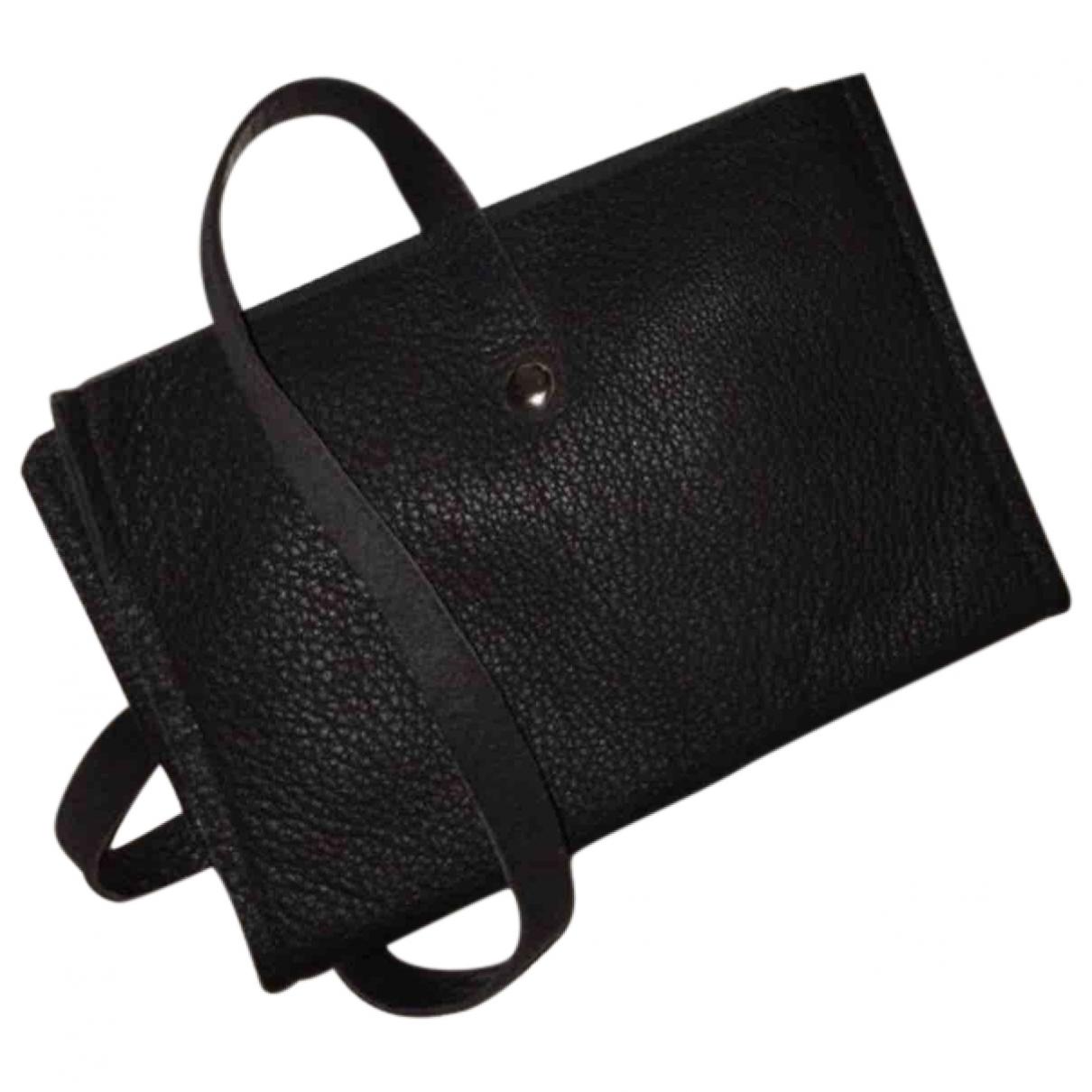 - Petite maroquinerie   pour femme en cuir - noir