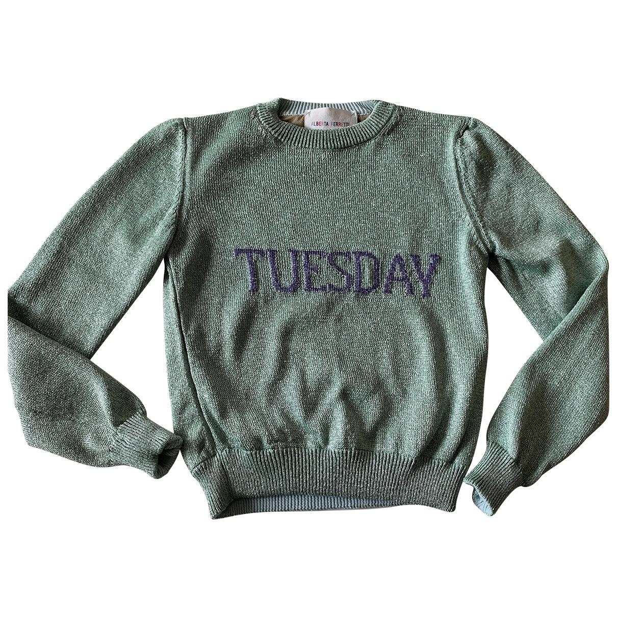 Alberta Ferretti \N Green Wool Knitwear for Women 40 IT