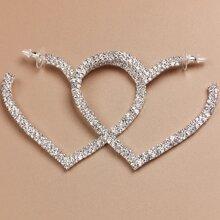 Heart Design Hoop Earrings