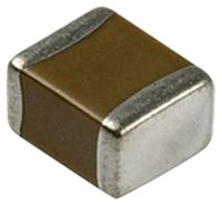 Murata , 0402 (1005M) 1μF Multilayer Ceramic Capacitor MLCC 25V dc ±10% , SMD GRM155R61E105KA12D (250)