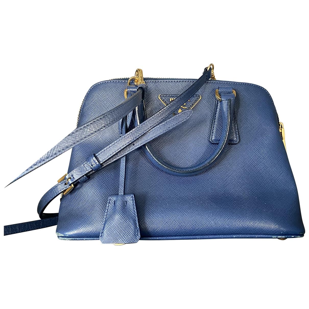 Prada Promenade Handtasche in  Blau Leder