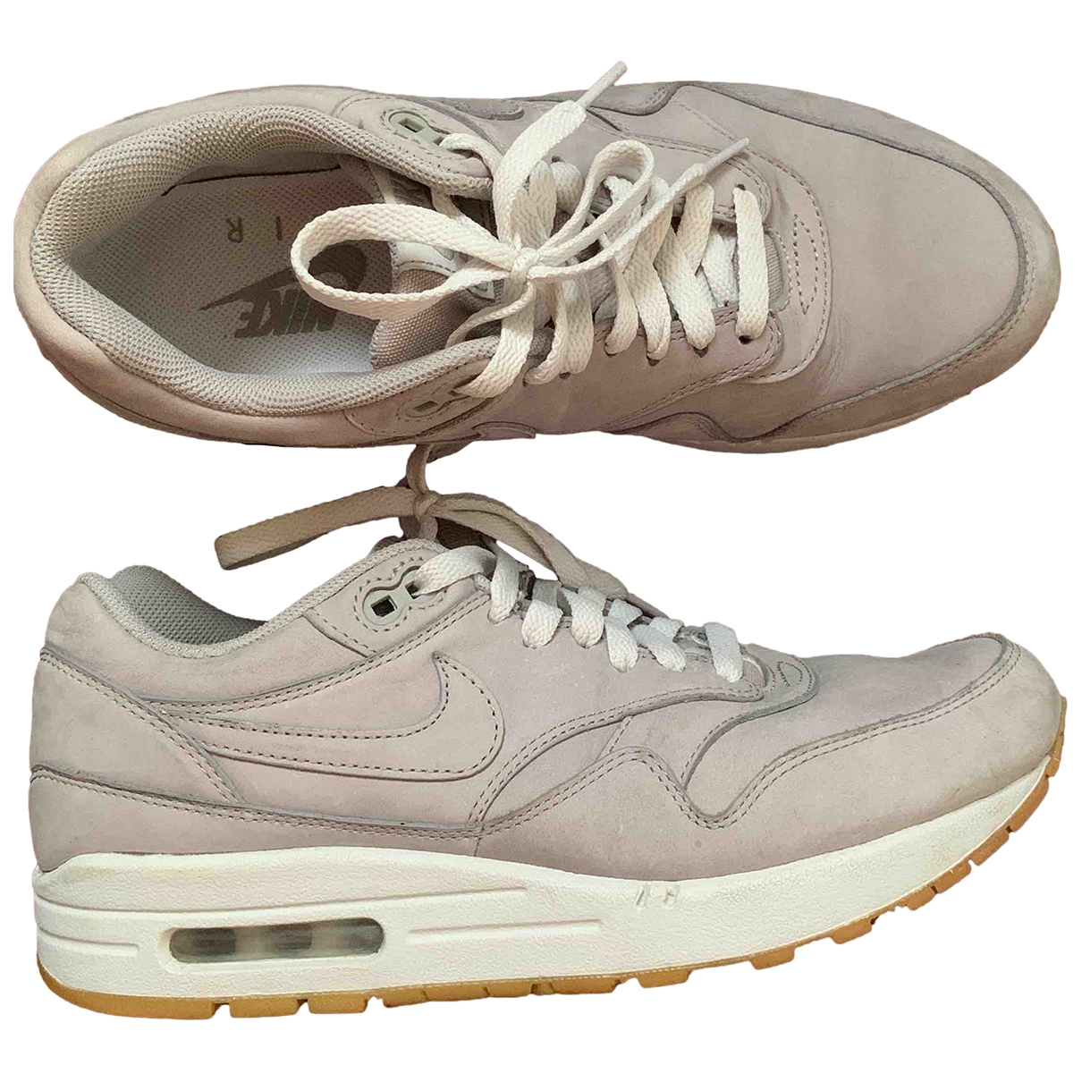 Nike Air Max 1 Sneakers in  Grau Leder