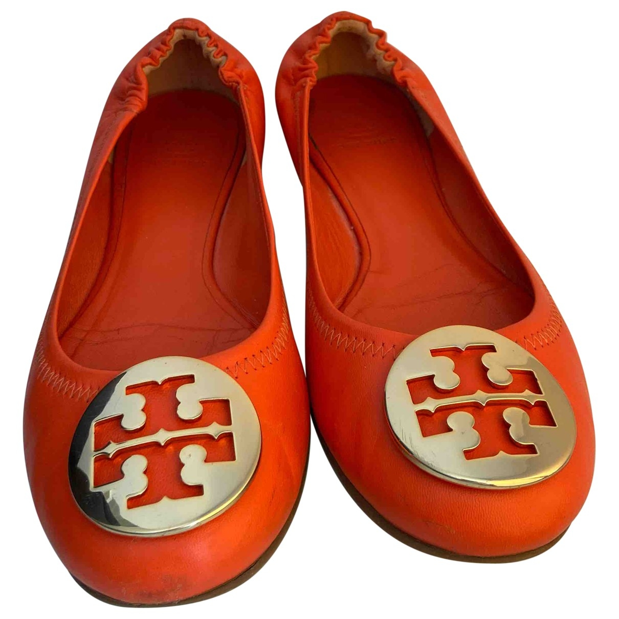 Tory Burch \N Ballerinas in  Orange Leder