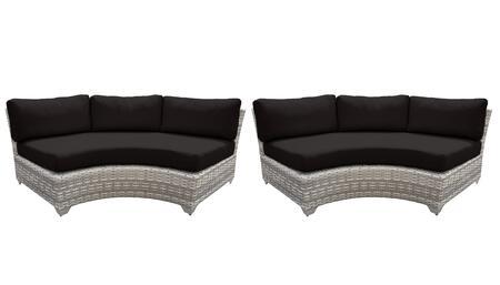 TKC045b-CAS-DB-BLACK Curved Armless Chair 2 Per Box - Beige and Black