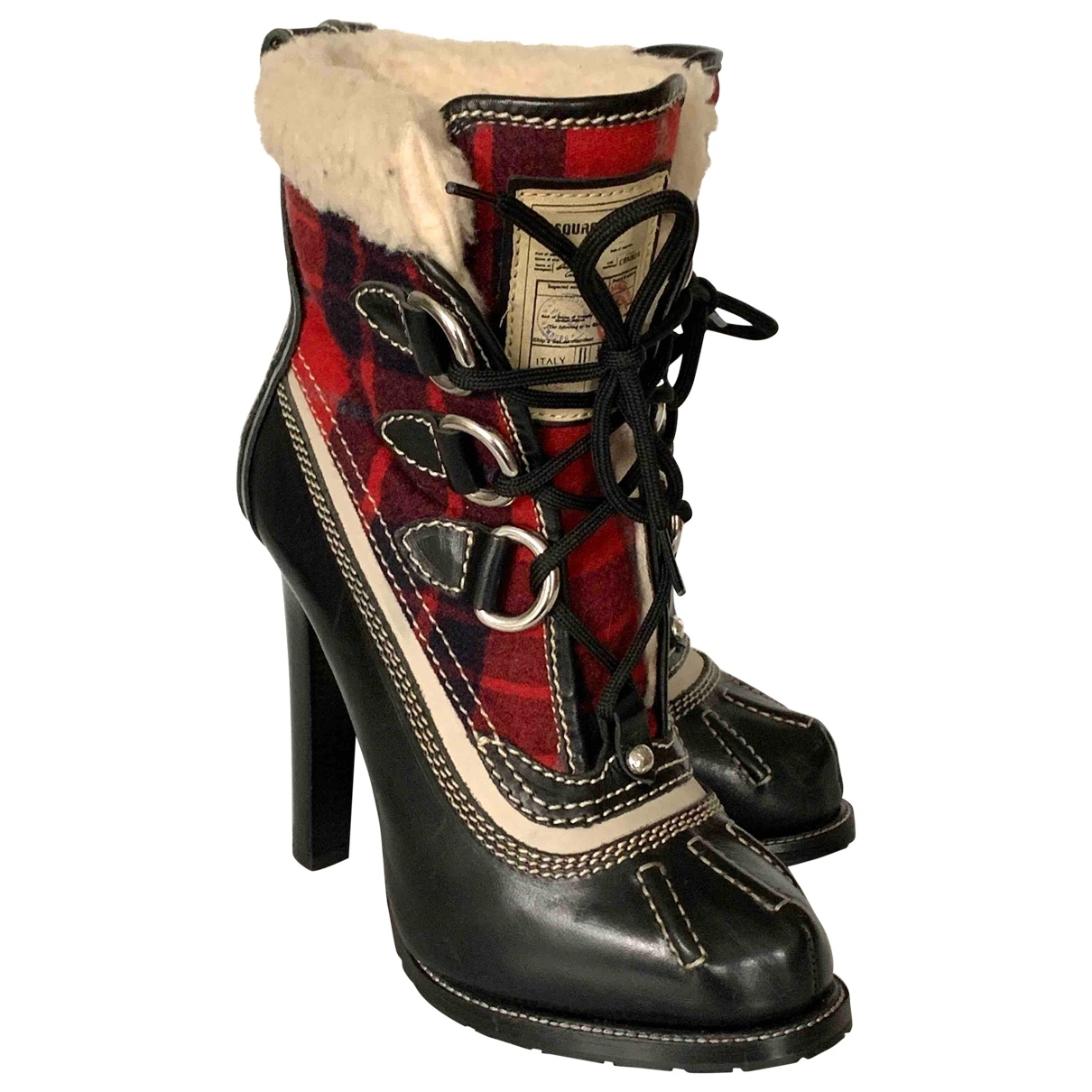 Dsquared2 - Boots   pour femme en cuir - noir
