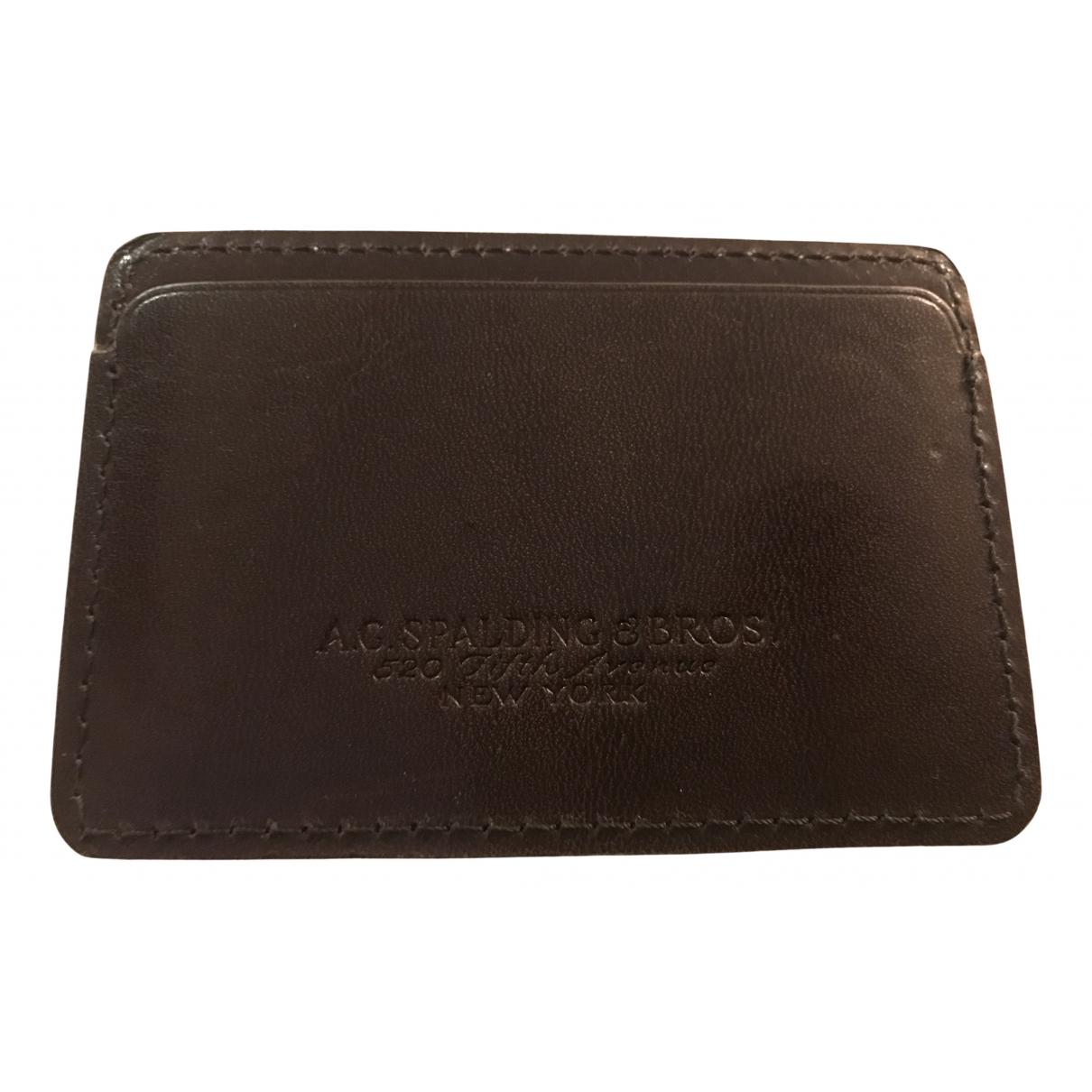 Ag Spalding & Bros N Brown Leather Small bag, wallet & cases for Men N