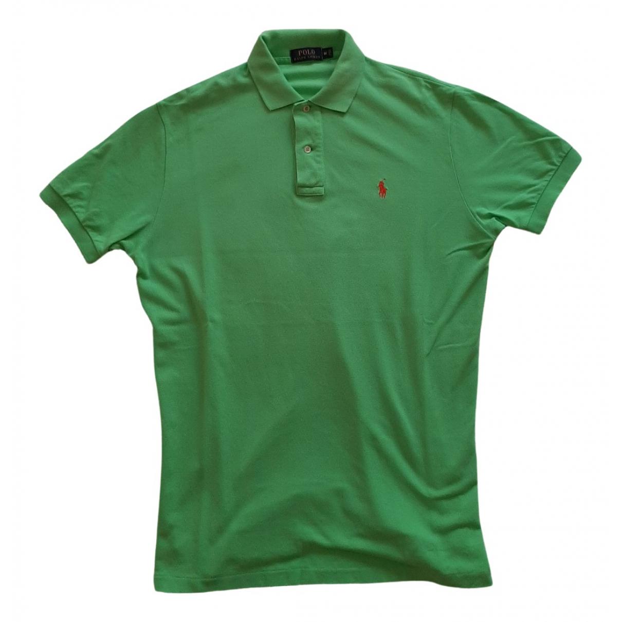 Polo Ralph Lauren - Polos Polo cintre manches courtes pour homme en coton - vert