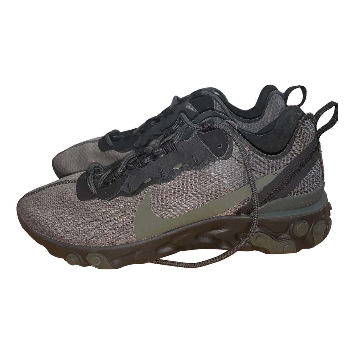 Nike React element 55 Sneakers in  Grau Polyester