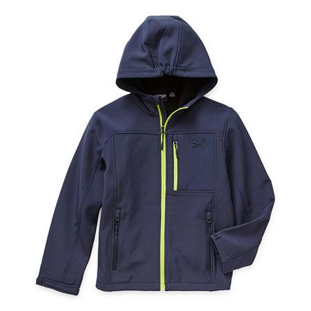 Reebok Little & Big Boys Midweight Softshell Jacket, 8 , Blue