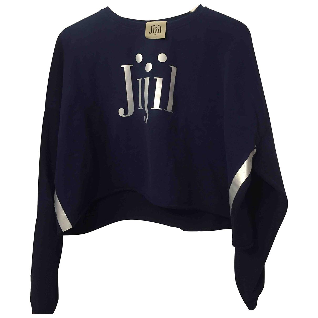 Jijil - Pull   pour femme en coton - bleu