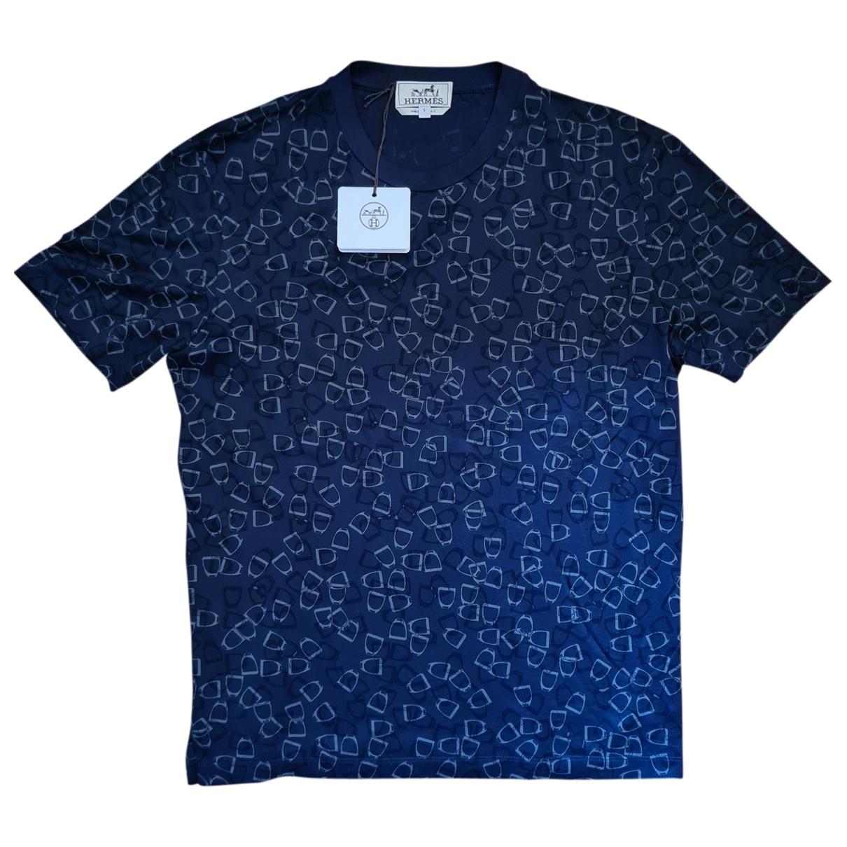 Hermes \N T-Shirts in  Blau Baumwolle