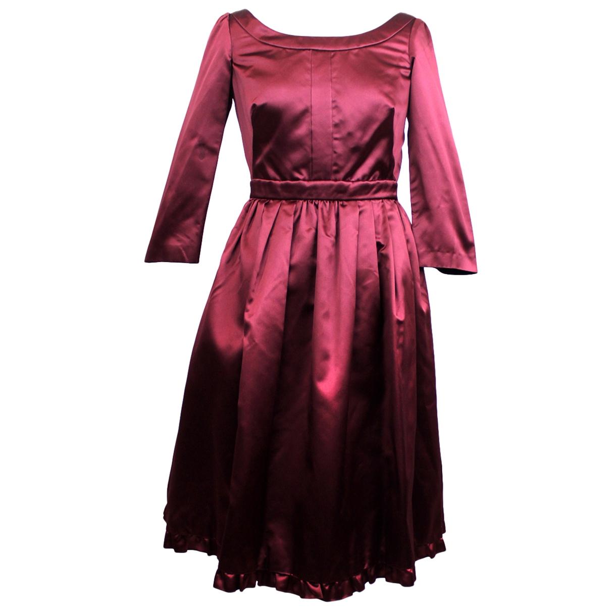 Vestido midi de Seda Prada