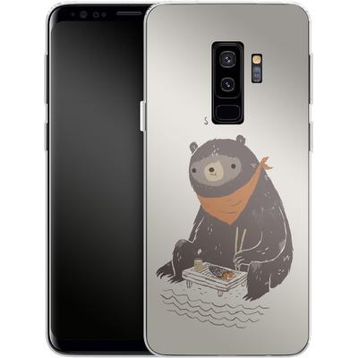 Samsung Galaxy S9 Plus Silikon Handyhuelle - Sushi Bear von Louis Ros