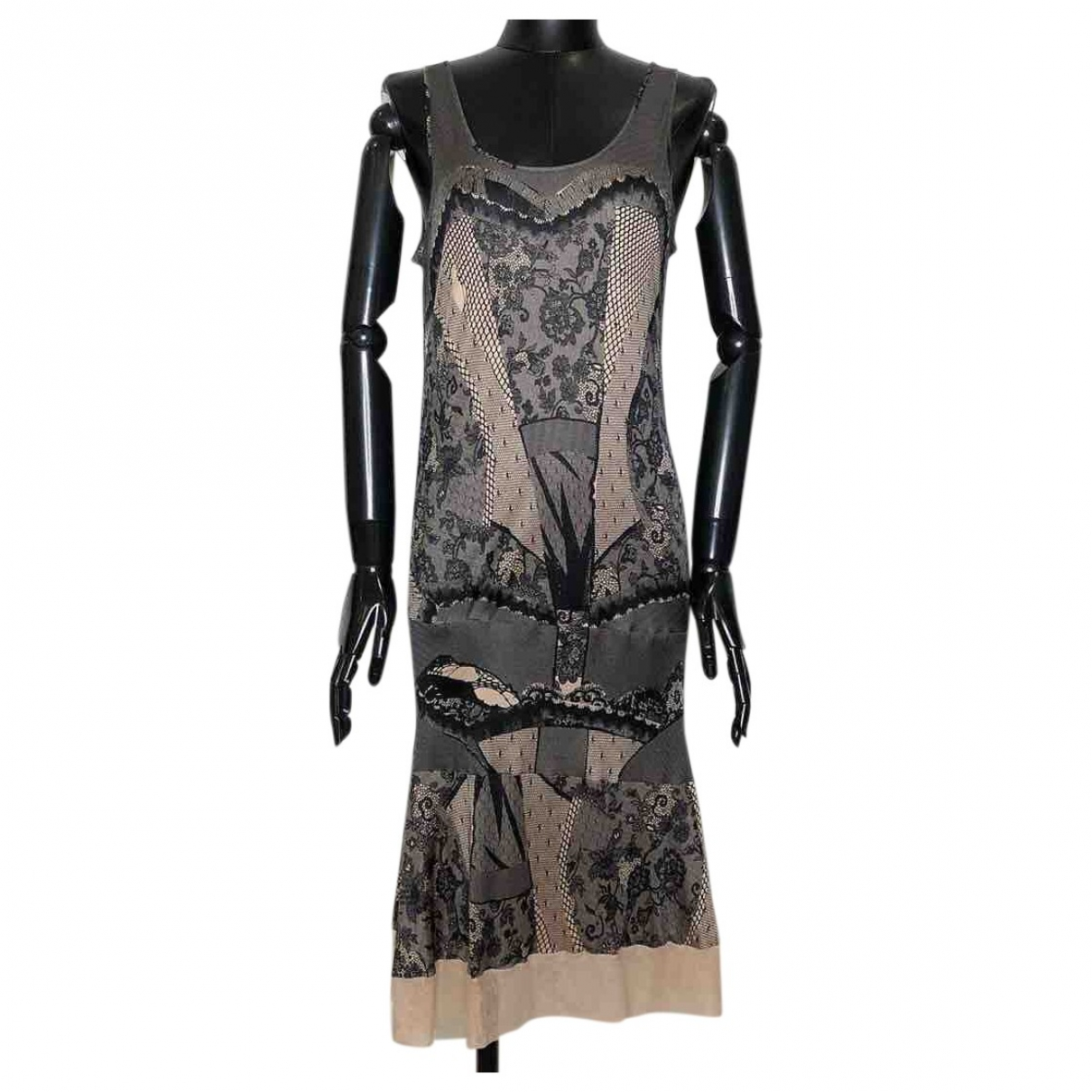 Dior \N Beige Silk dress for Women 38 FR