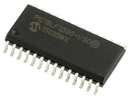 Microchip PIC18LF2580-I/SO, 8bit PIC Microcontroller, PIC18F, 40MHz, 32 kB, 256 B Flash, 28-Pin SOIC