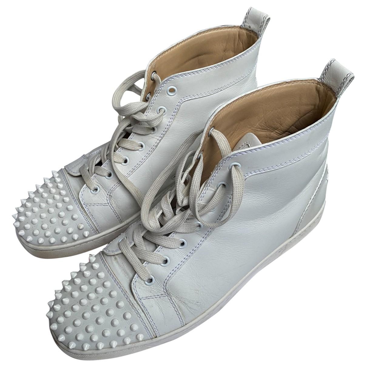 Christian Louboutin Louis Sneakers in  Weiss Leder