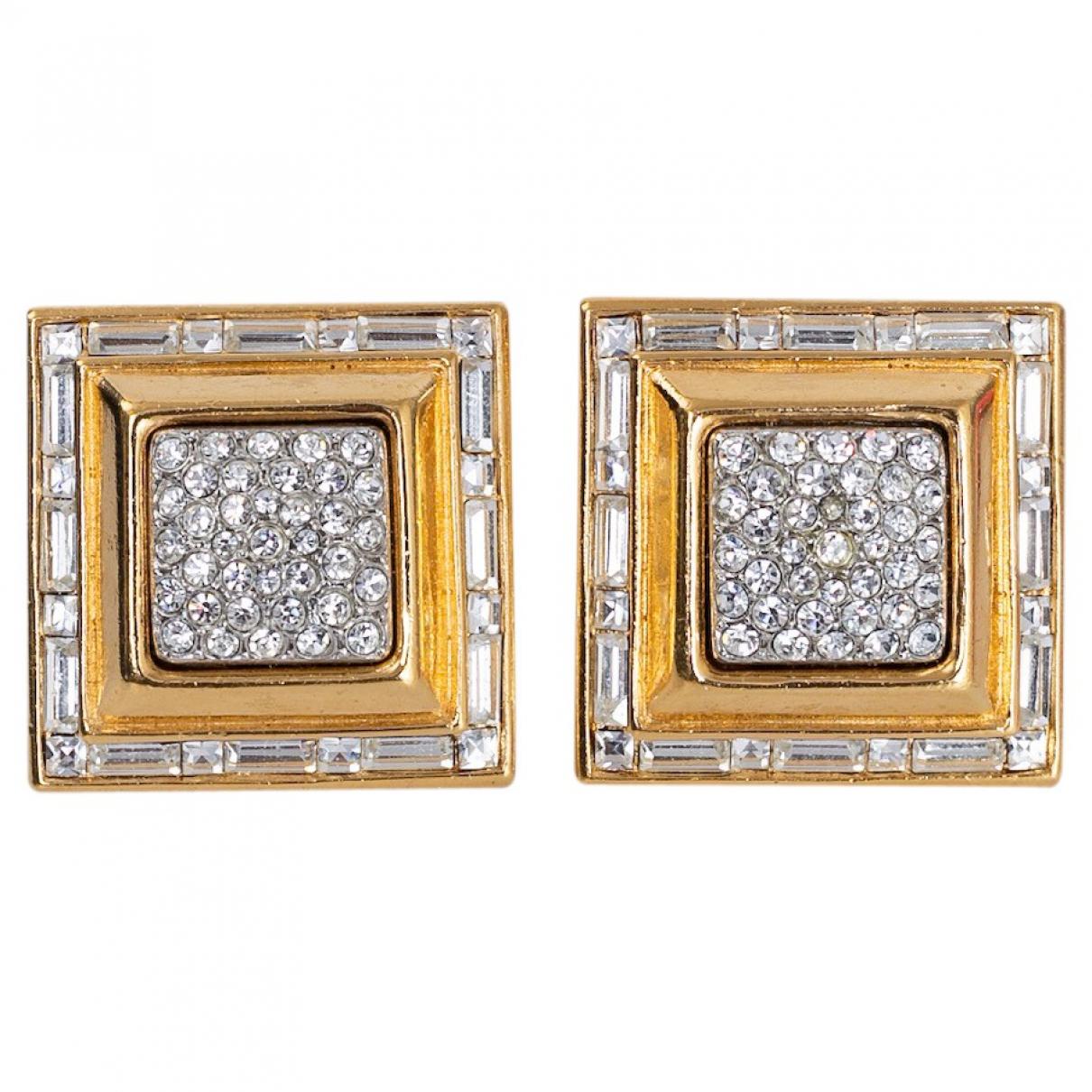 Dior N Gold Metal Earrings for Women N