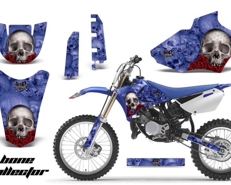 AMR Racing Dirt Bike Decal Graphics Kit MX Sticker Wrap For Yamaha YZ85 2002-2014áBONES BLUE
