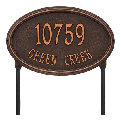 1303OB Personalized Concord Oval Plaque -Estate - Lawn - 2 Line in Oil Rubbed