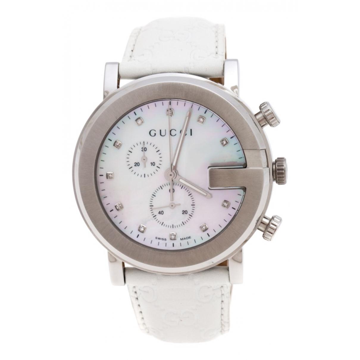 Gucci G-Chrono White Steel watch for Women \N