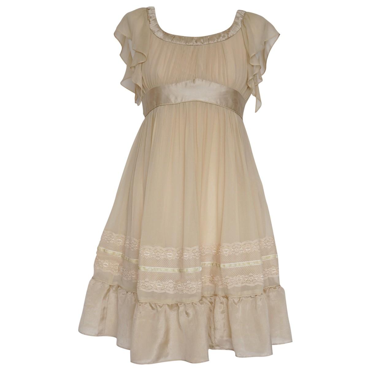 Chloé \N Beige Silk dress for Women 8 UK