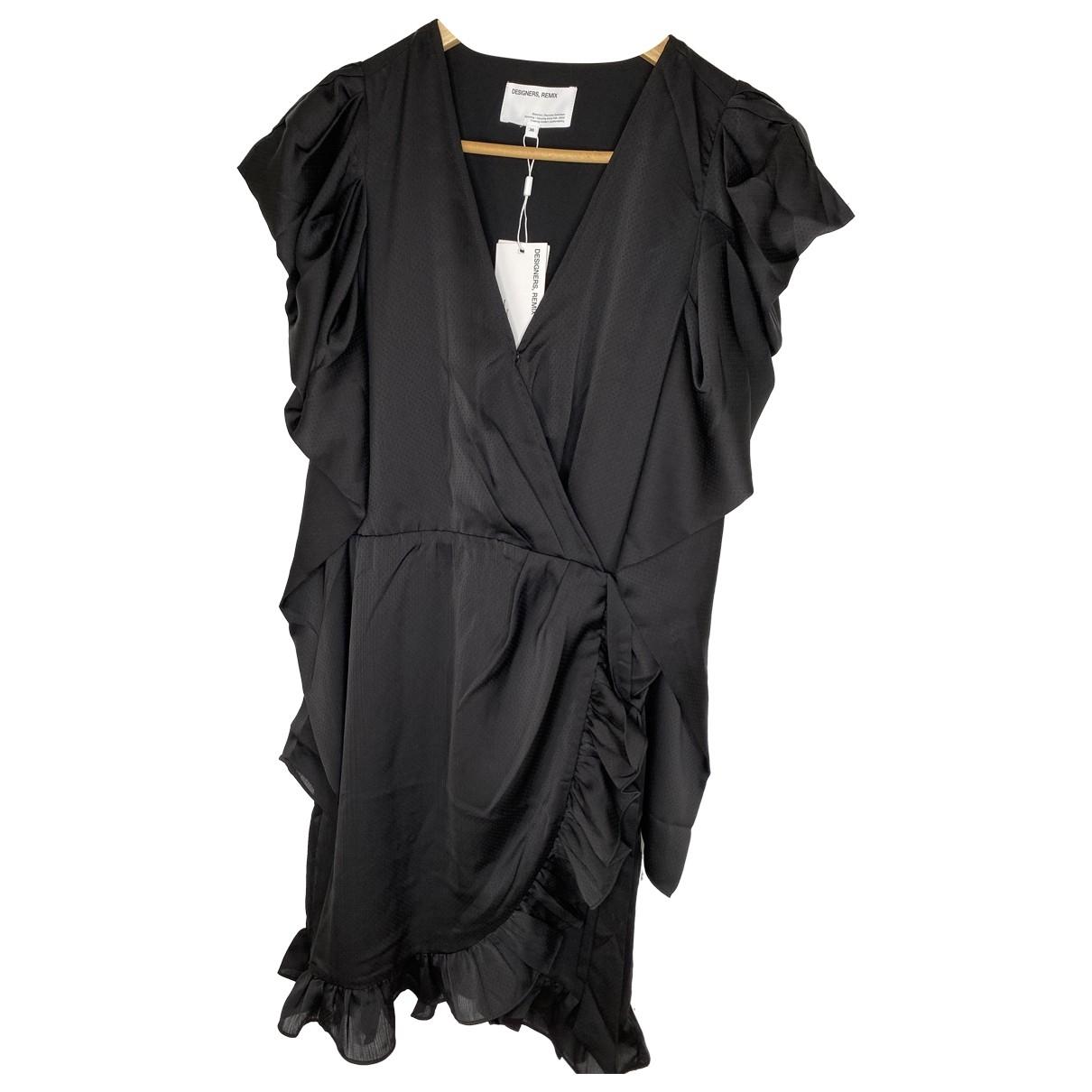 Designers Remix \N Kleid in  Schwarz Polyester