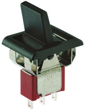 TE Connectivity Single Pole Double Throw (SPDT), On-(On) Rocker Switch Panel Mount