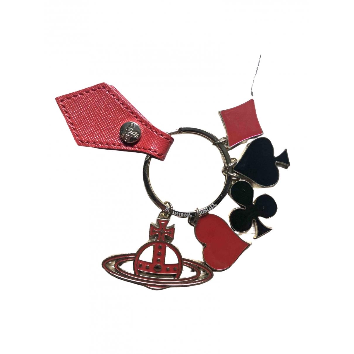 Vivienne Westwood \N Red Metal Small bag, wallet & cases for Men \N