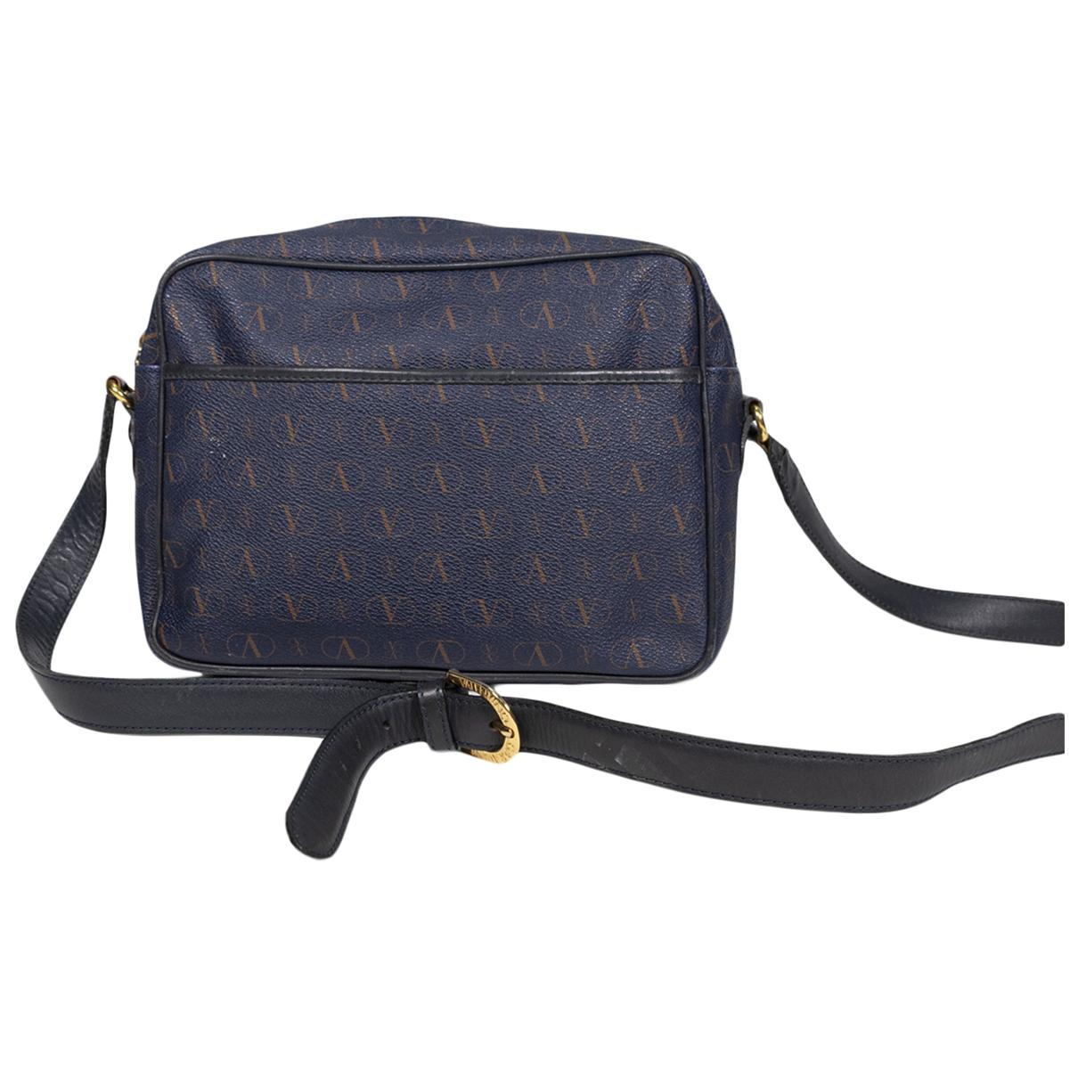 Valentino Garavani \N Handtasche in  Blau Leder