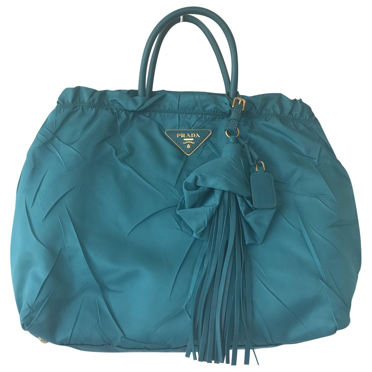Prada \N Turquoise Cloth handbag for Women \N