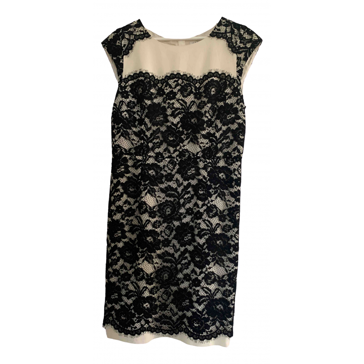 Lk Bennett \N Black Cotton dress for Women 14 UK