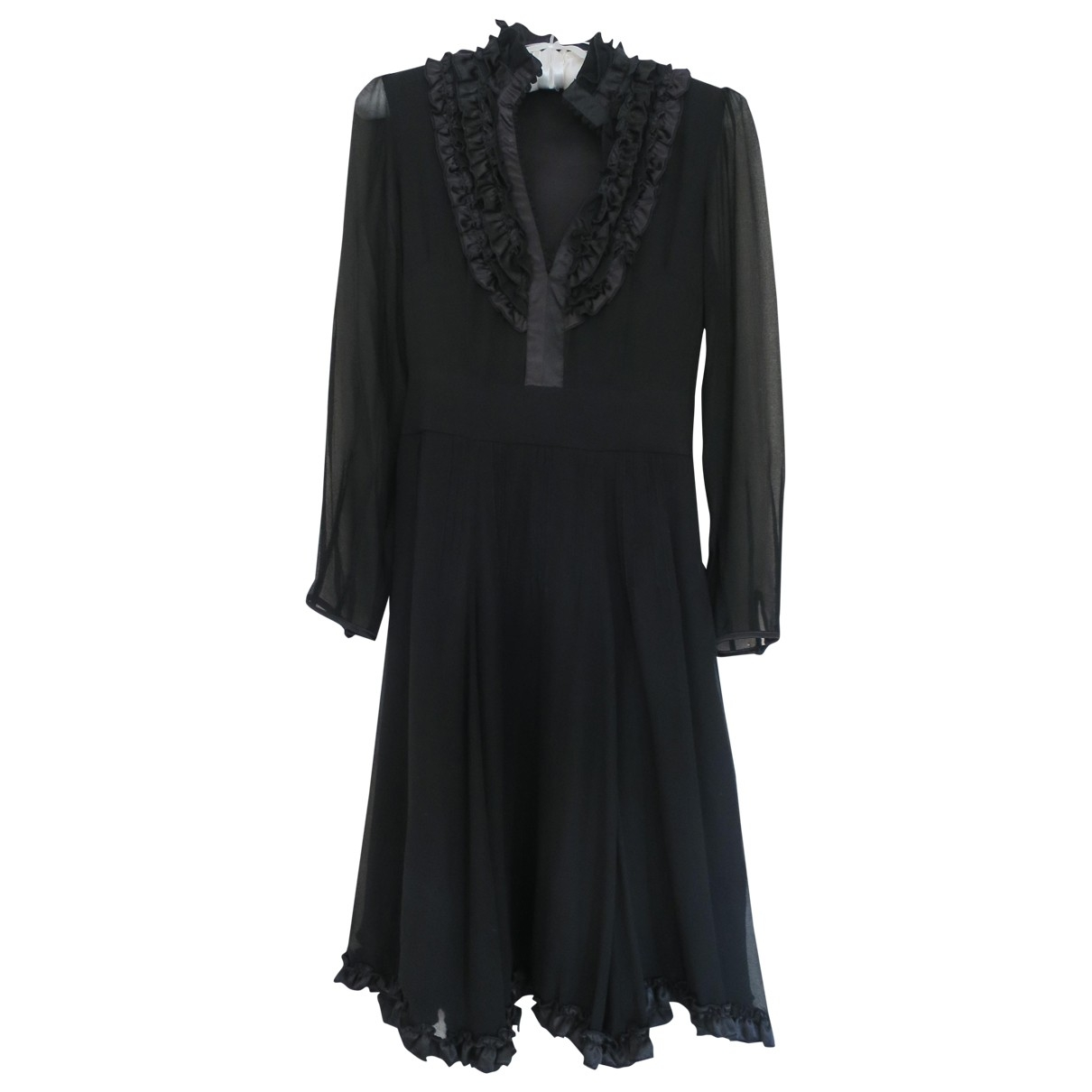 Chloé \N Black Silk dress for Women 8 UK