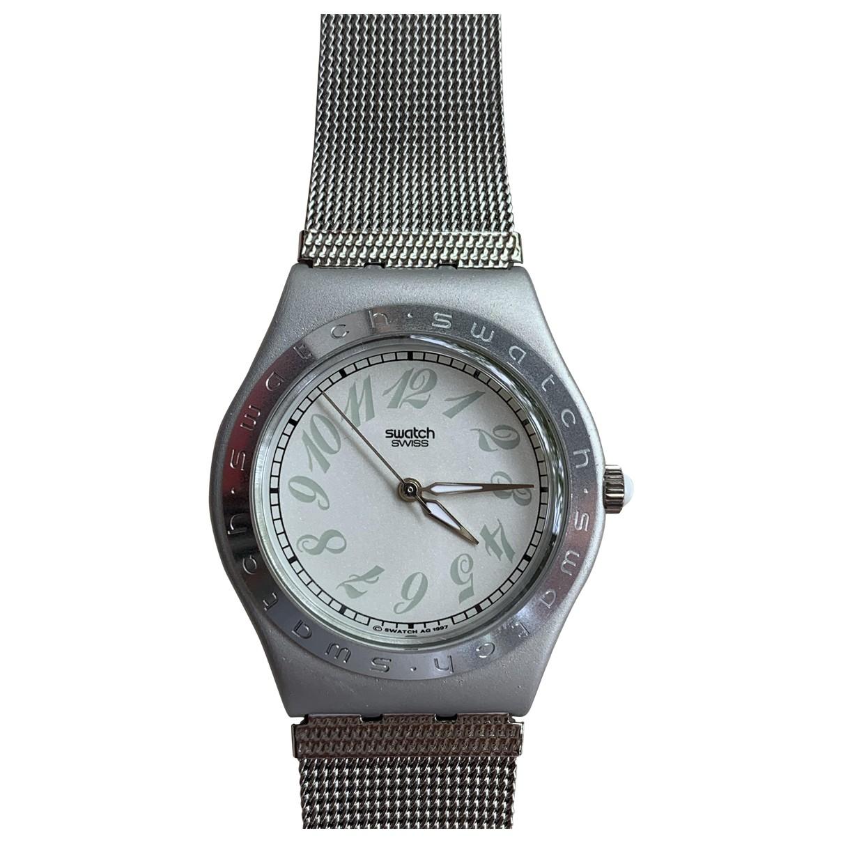 Swatch - Montre   pour femme en acier - gris