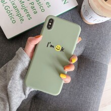 Smiley Face Print iPhone Case