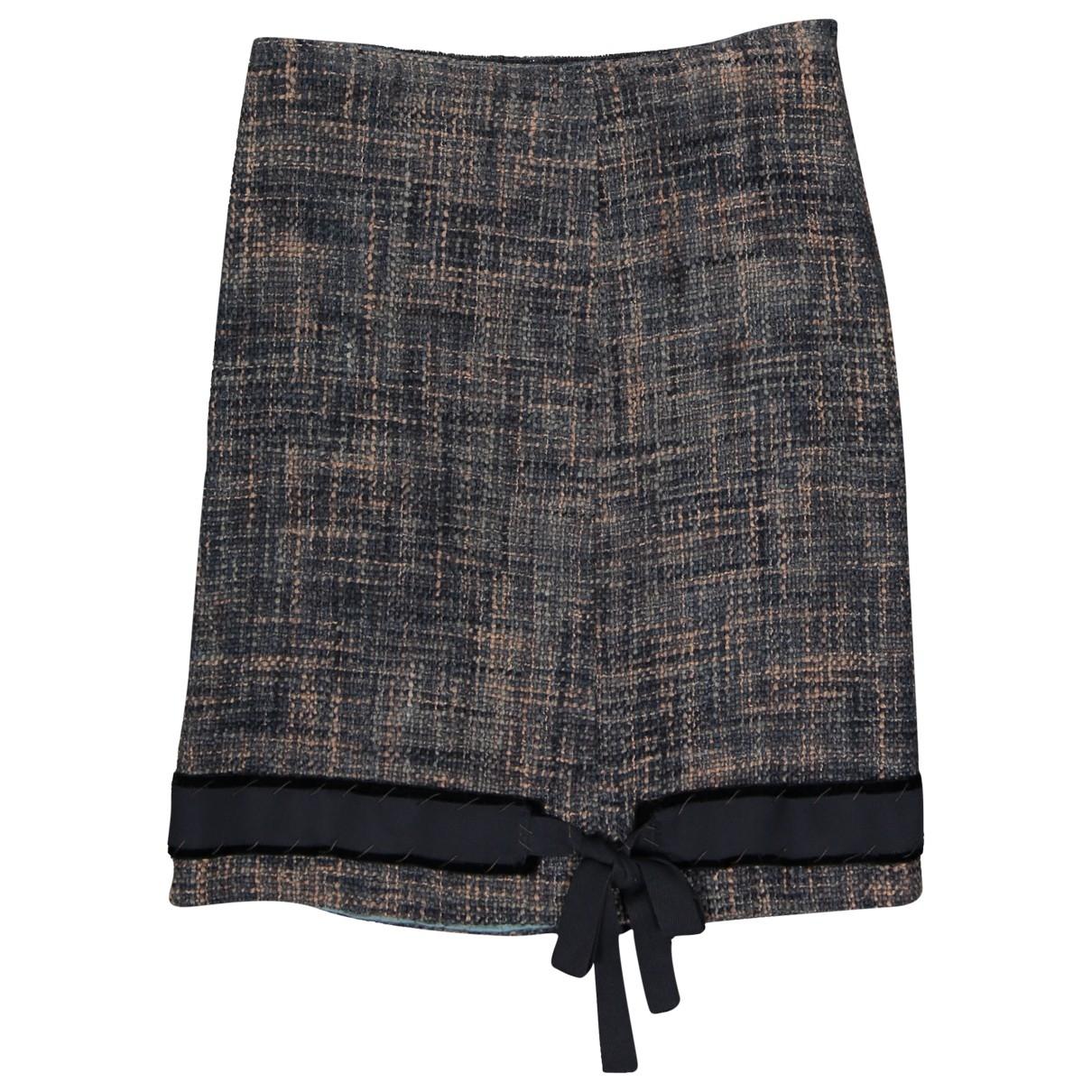 Prada \N Blue Wool skirt for Women 42 IT