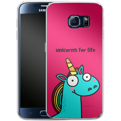 Samsung Galaxy S6 Silikon Handyhuelle - Unicorns for Life von Flossy and Jim