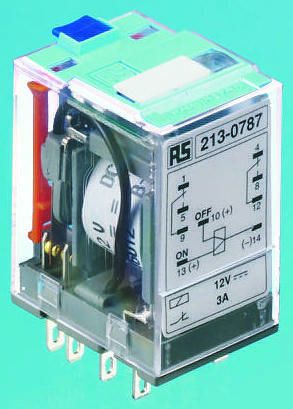 Releco DPDT Plug In Latching Relay - 5 A, 115V ac For Use In Power Applications